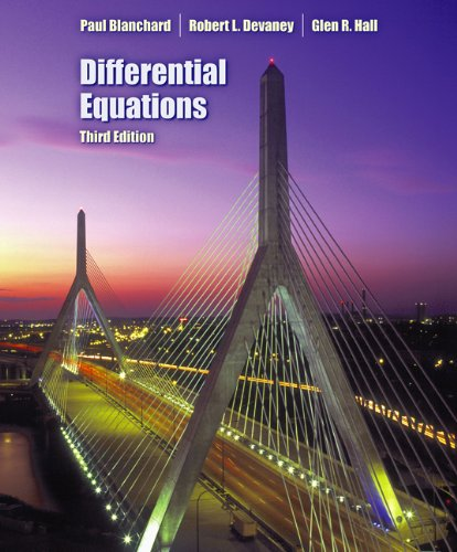 Student Solutions Manual for Blanchard/Devaney/Hall's Differential Equations, 3rd  3rd 2006 edition cover