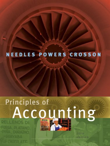 Principles of Accounting  10th 2008 edition cover