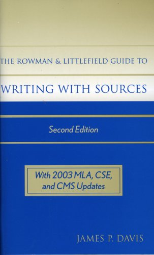 Rowman and Littlefield Guide to Writing with Sources  2nd 2004 9780742530614 Front Cover