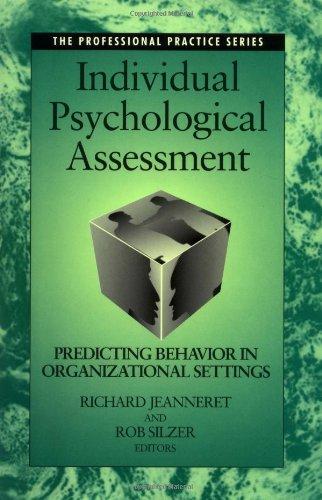 Individual Psychological Assessment Predicting Behavior in Organizational Settings  1998 edition cover
