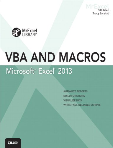 VBA and Macros   2013 edition cover