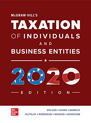 McGraw-Hill's Taxation of Individuals and Business Entities 2020 Edition  11th 9781259969614 Front Cover