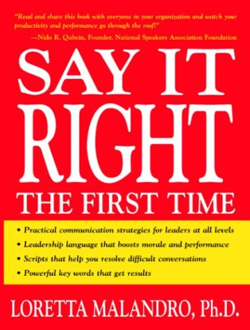 Say It Right the First Time   2003 edition cover