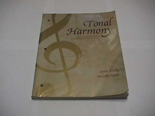Workbook for Tonal Harmony With an Introduction to Twentieth-Century Music 5th 2004 edition cover