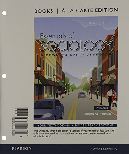 Essentials of Sociology, Books a la Carte Plus NEW MySocLab with Pearson EText -- Access Card Package  11th 2015 edition cover