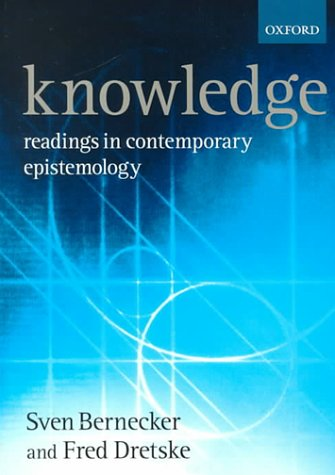 Knowledge Readings in Contemporary Epistemology  2000 edition cover