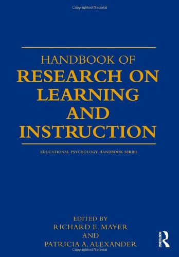 Handbook of Research on Learning and Instruction   2011 edition cover