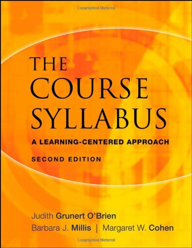 Course Syllabus A Learning-Centered Approach 2nd 2008 edition cover