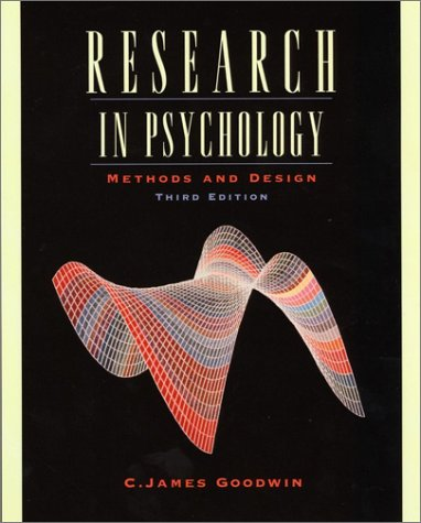 Research in Psychology Methods and Design 3rd 2002 edition cover