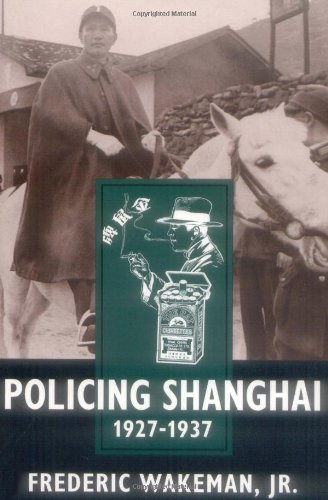 Policing Shanghai, 1927-1937   1996 edition cover