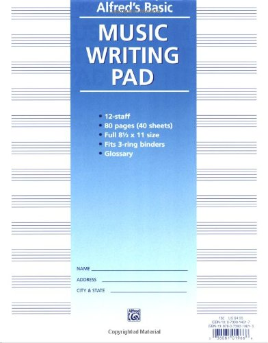 Music Writing Pad   1987 edition cover