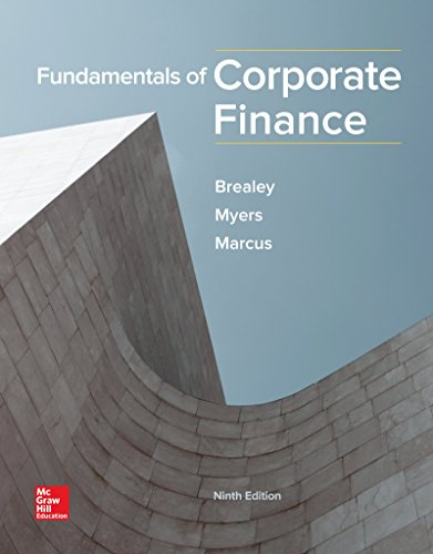 Fundamentals of Corporate Finance 9th 2017 9781259722615 Front Cover