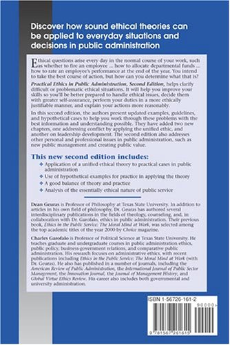 Practical Ethics in Public Administration  2nd 2005 (Revised) edition cover