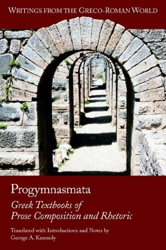 Progymnasmata Greek Textbooks of Prose Composition and Rhetoric  2003 edition cover