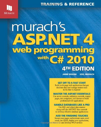 Murach's ASP. NET 4 Web Programming with C# 2010  4th 2011 edition cover