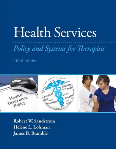 Health Services Policy and Systems for Therapists 3rd 2014 edition cover