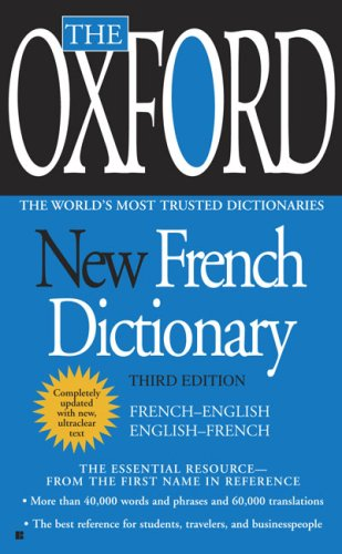 Oxford New French Dictionary Third Edition  2010 edition cover