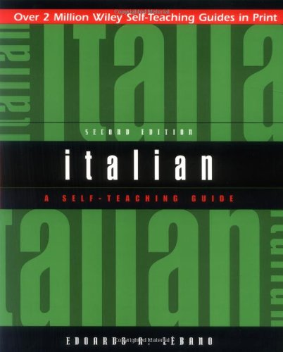 Italian A Self-Teaching Guide 2nd 2000 (Revised) edition cover