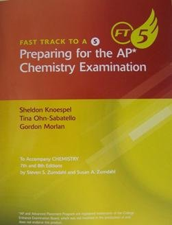 Fast Track to a 5 Preparing for the AP Chemistry Examination  8th 2010 9780547168616 Front Cover