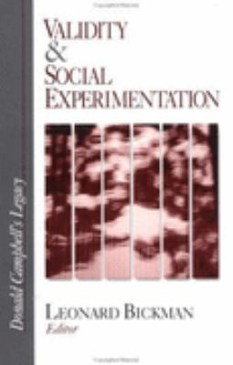Validity and Social Experimentation Donald Campbell's Legacy  2000 edition cover