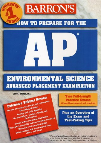 How to Prepare for the AP Environmental Science Exam   2002 9780764121616 Front Cover