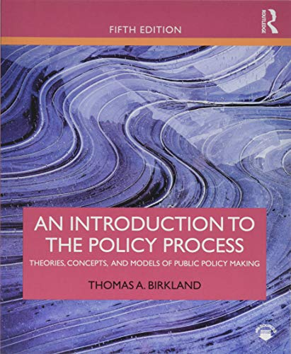 Introduction to the Policy Process  5th 2019 9781138495616 Front Cover