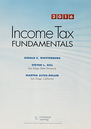 Llf Pkg Income Tax Fundamentals 2016 W/H&r Block CD  34th 2016 9781305664616 Front Cover