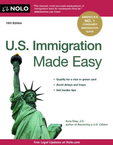 U. S. Immigration Made Easy  16th edition cover