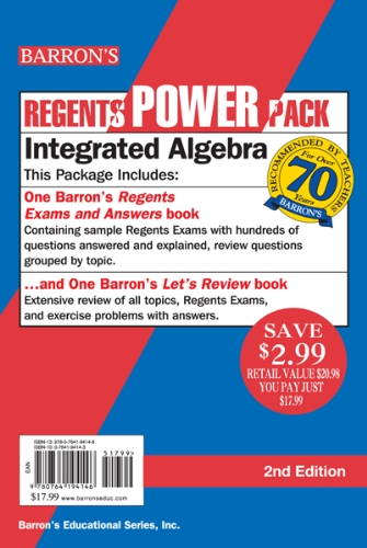 Integrated Algebra Power Pack  2nd 2015 (Revised) edition cover
