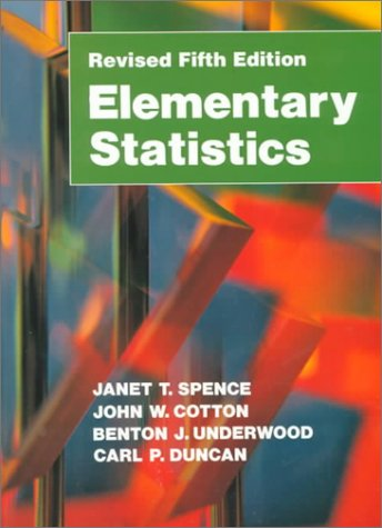 Elementary Statistics  5th 1992 (Revised) edition cover