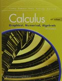 Calculus Graphical, Numerical, Algebraic 5th 2016 9780133311617 Front Cover