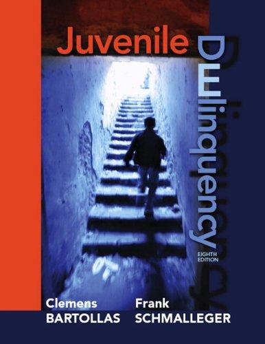 Juvenile Delinquency  8th 2011 edition cover