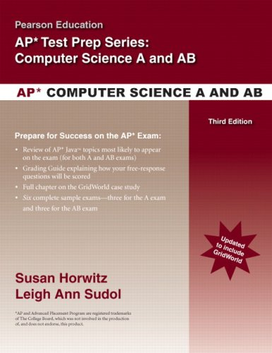 Pearson Education's Review for the AP Computer Science A and AB  3rd 2009 edition cover
