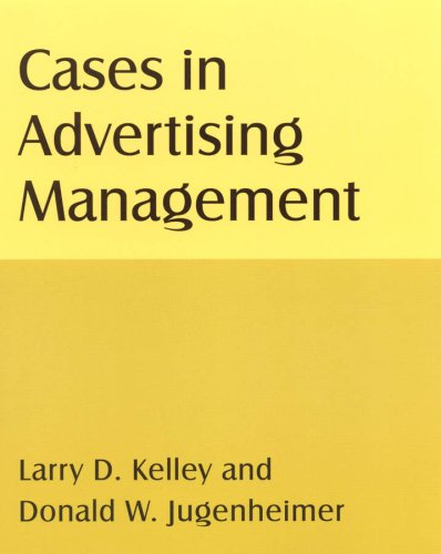 Cases in Advertising Management   2009 edition cover