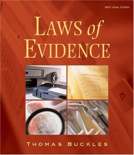 Laws of Evidence   2003 edition cover