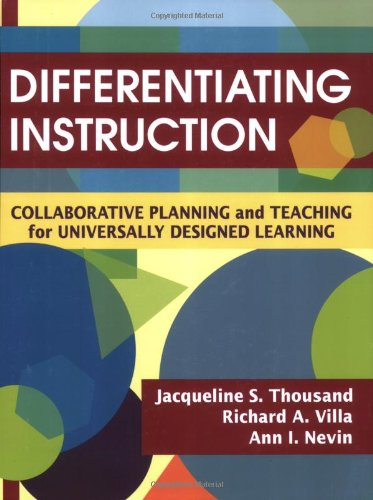 Differentiating Instruction Collaborative Planning and Teaching for Universally Designed Learning  2007 edition cover