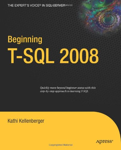 Beginning T-SQL 2008   2009 edition cover