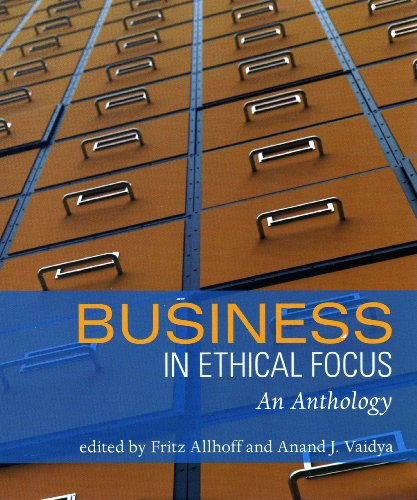 Business in Ethical Focus: An Anthology  2008 edition cover