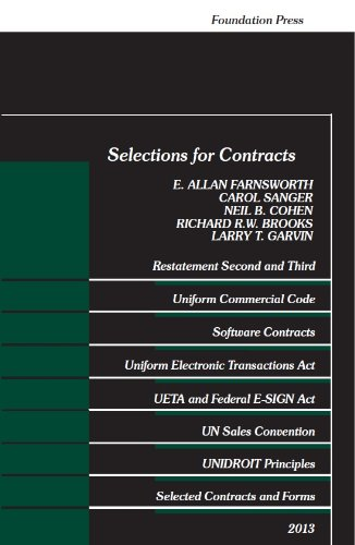 Selections for Contracts, 2013:   2013 edition cover