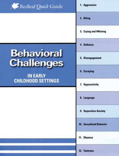 Behavioral Challenges in Early Childhood Settings   2008 edition cover