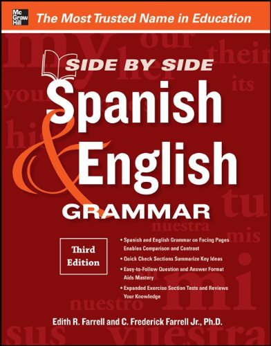 Spanish and English Grammar  3rd 2012 9780071788618 Front Cover