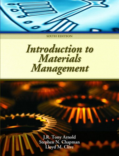Introduction to Materials Management  6th 2008 edition cover