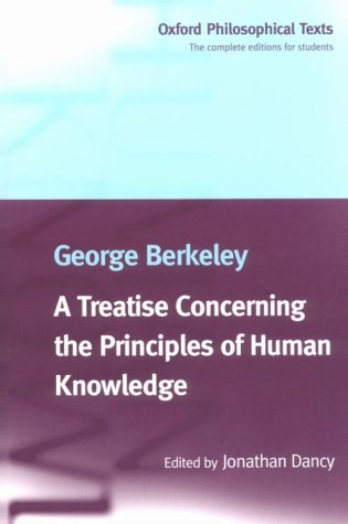 Treatise Concerning the Principles of Human Knowledge   1998 edition cover