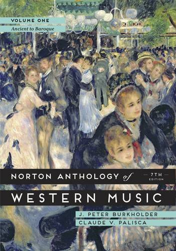 The Norton Anthology of Western Music:   2014 edition cover
