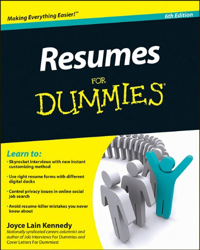 Resumes for Dummies�  6th 2011 edition cover
