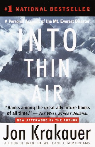 Into Thin Air A Personal Account of the Mt. Everest Disaster PrintBraille  edition cover