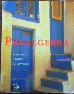 Prealgebra  3rd 2002 9780618121618 Front Cover