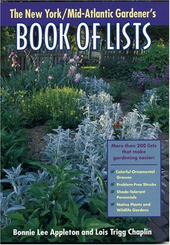 New York/Mid-Atlantic Gardener's Book of Lists   2001 9780878332618 Front Cover