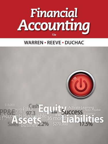 Financial Accounting  13th 2014 edition cover
