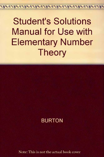 Elementary Number Theory 5th 2002 9780072528619 Front Cover